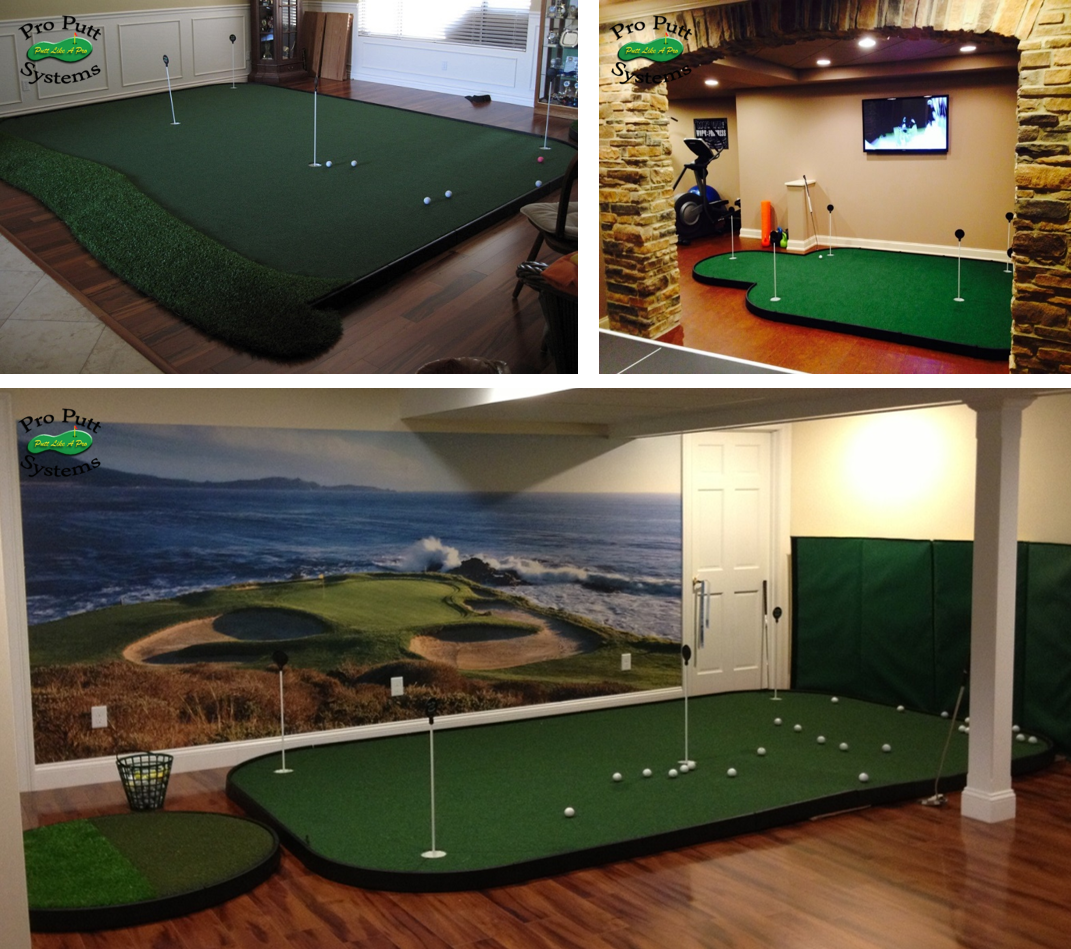 Build Your Own Putting Studio Golf Training Aids