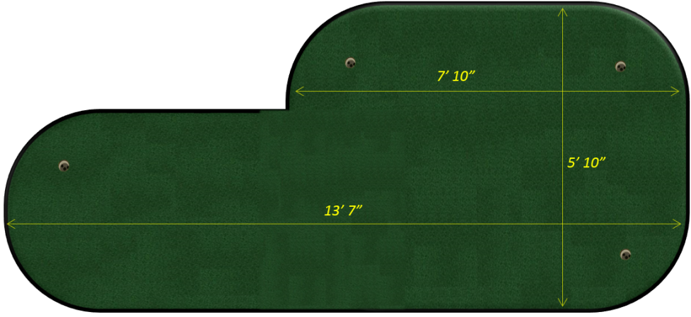 portable indoor putting green, tour pro model