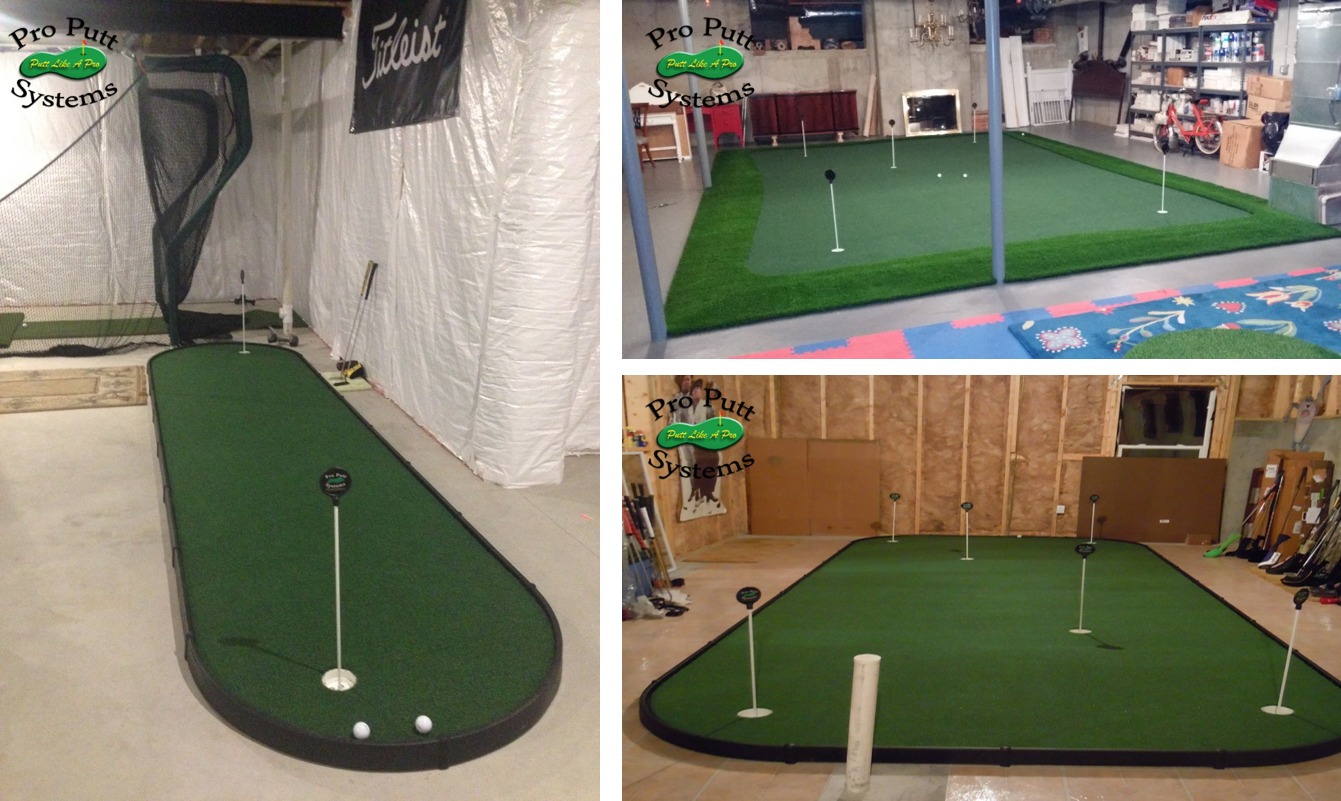 basement golf studios, putting studios
