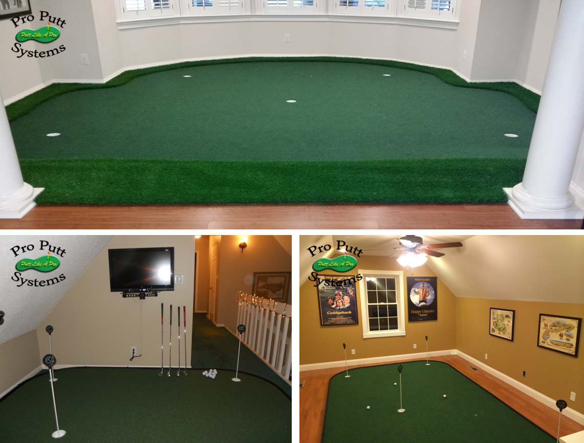 indoor home golf studio