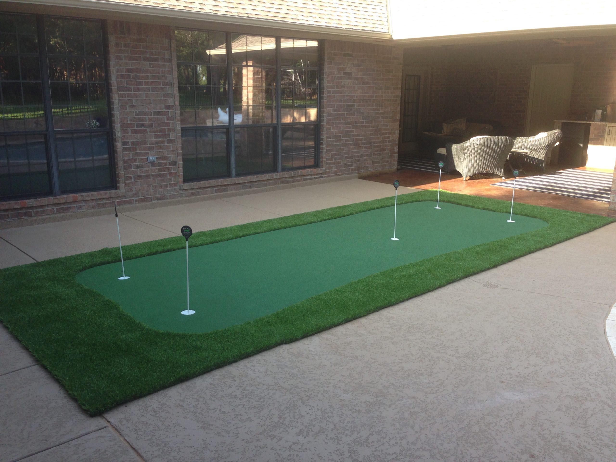 Backyard DIY Putting Greens