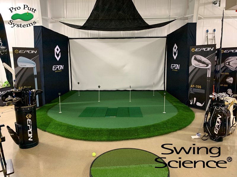 Simulator with Integrated Hitting Mat